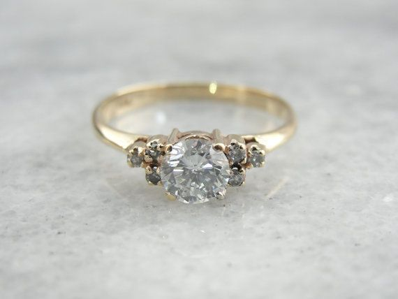 Classic Vintage Diamond Engagement Ring With By Msjewelers 1415 00 Oh So Prett Diamond Engagement Rings Vintage Vintage Engagement Rings Engagement Rings