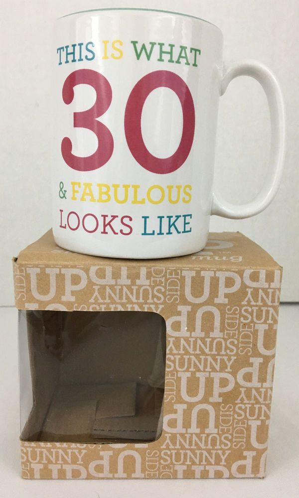 Cheers to 30 Years Mug 30 Fabulous Birthday Wishes White Teal Mug Item 181854 #LaughAsMuchAs