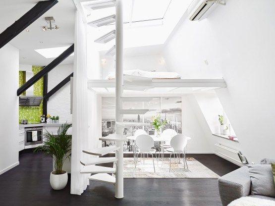 un dplex con escalera al tejado