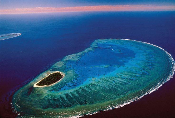 Az ausztráliai nagy korallzátony egyik gyöngyszeme a varázslatos Lady Musgrave sziget és lagúna.