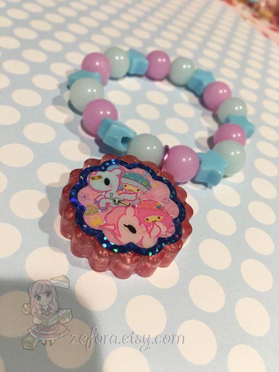Tokidoki Little Twin Stars Glitter Cookie Charm Pastel by zefora