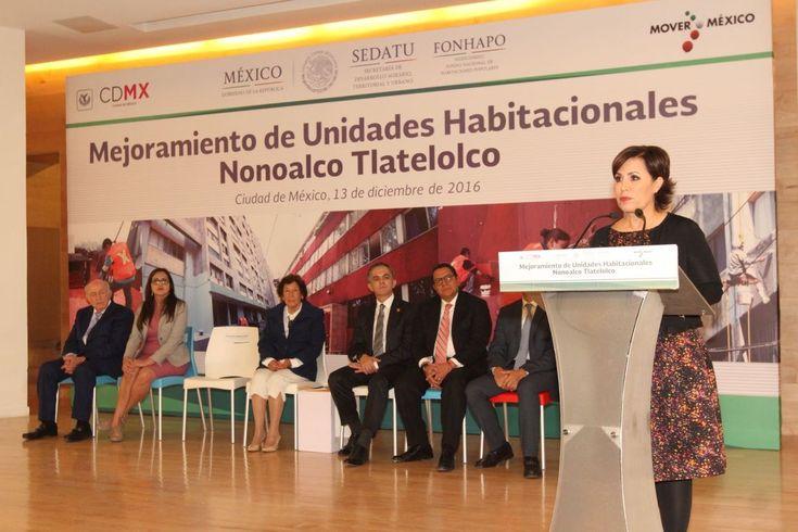 Durante el arranque del Programa de Mejoramiento de la Unidad Habitacional Nonoalco-Tlatelolco, la secretaria Rosario Robles, dijo que con estas acciones se cumple con el compromiso 200 que durante su campaña realizó el Presidente Enrique Peña Nieto.