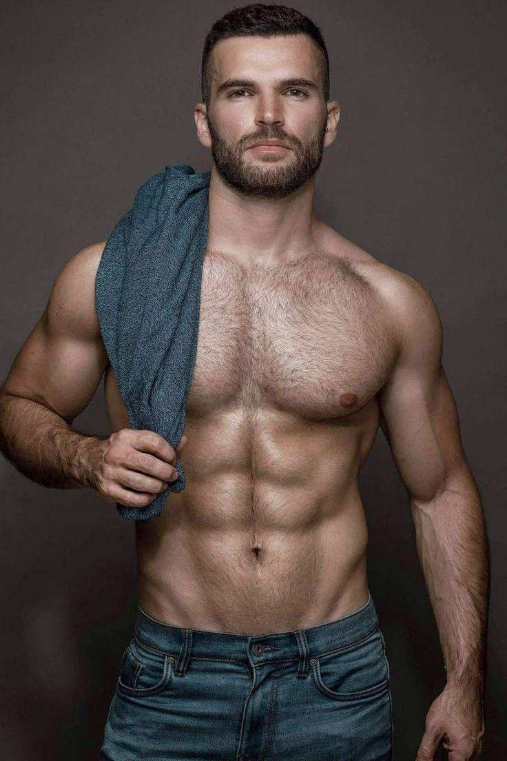 Hairy swimwear with the print of men body