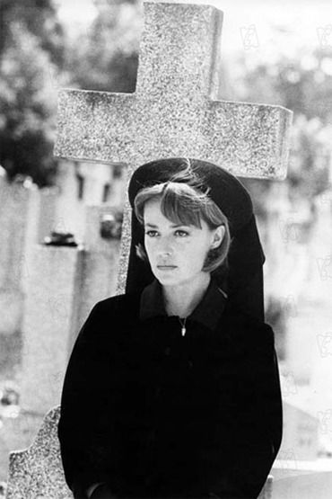 'The Bride Wore Black'. Jeanne Moreau directed by Truffaut, 1967.