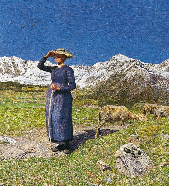Giovanni Segantini - Noon on the Alps