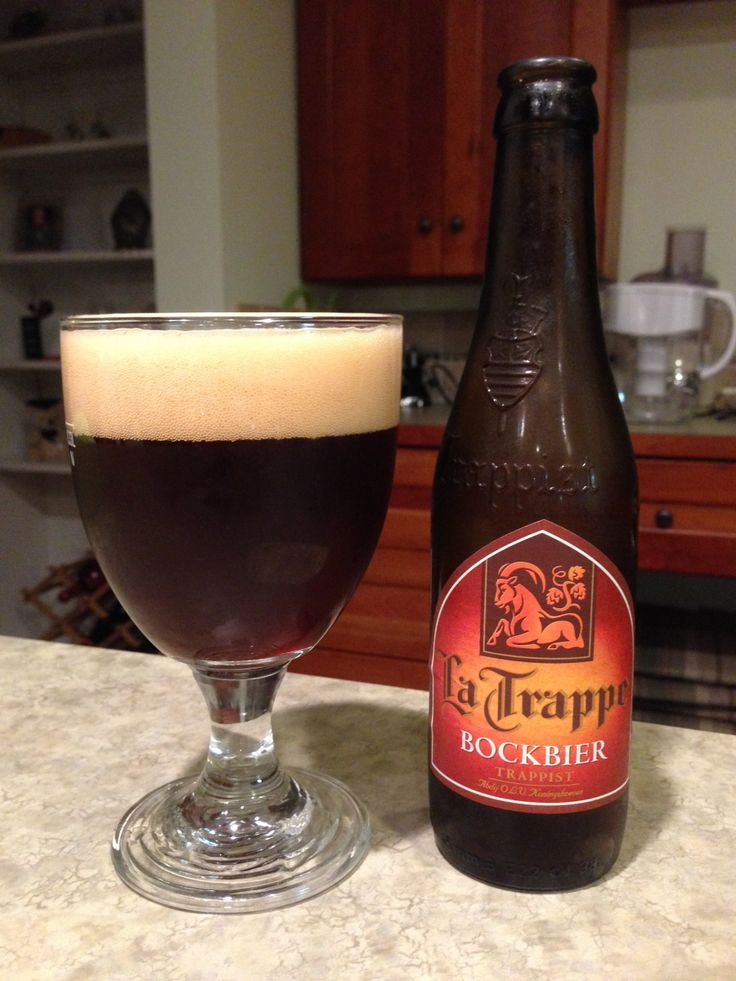 La Trappe Bockbier: Day 28: La Trappe Bockbier from Bierbrouwerij De Koningshoeven. Style of beer is 'Traditional Bock'. ABV is 7%. Read more at http://www.beerinfinity.com/beer-of-the-day-la-trappe-bockbier/.