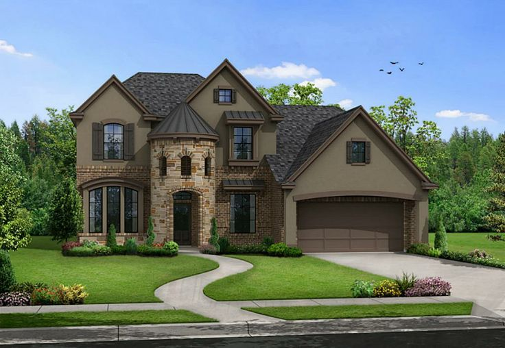 Brick and stucco houses stone stucco and brick elevation for Stucco and brick homes