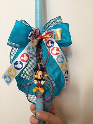 mickey mouse easter candle pascha greek easter candles