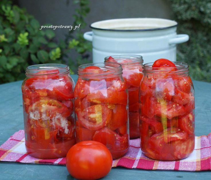 Proste Potrawy: Pomidory krojone w słoikach na zupę