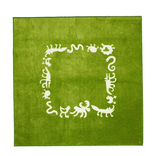BARNSLIG RINGDANS Rug IKEA Latex backing keeps the rug firmly in place.Buy green rug, use clorox pen to draw animals.