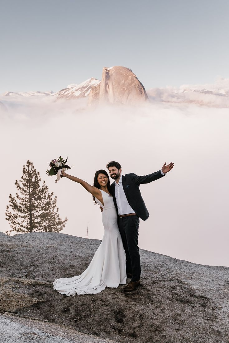 Adventure Wedding Portraits At Glacier Point In Yosemite National Park Adventure Wedding Elopement Photographers In Moab Yosemite And Beyond The Hearnes Adventure Wedding Elope Wedding Nature Inspired Wedding [ 1103 x 735 Pixel ]