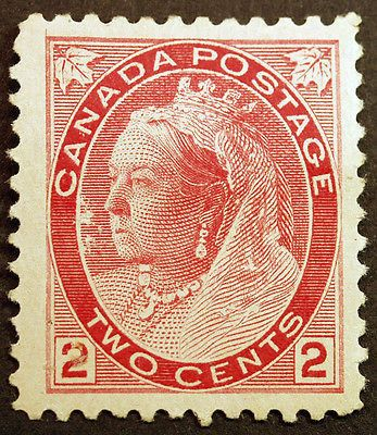 Canada #77 2c Carmine Die I 1898 Queen Victoria VF Mint Hinged, well centered clear all around, all full gum, Fresh Intense Color. item # 180968668161