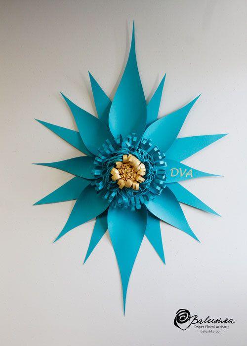 Dekorační květina na stěnu * z papíru ♥
