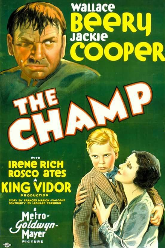 The Champ (1931) Wallace Beery, Jackie Cooper