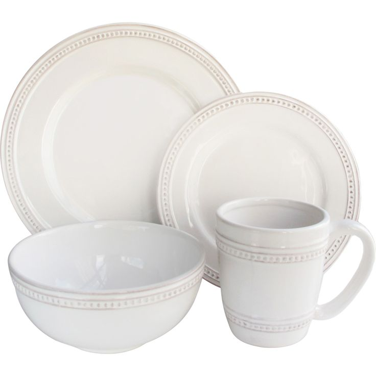 laurel foundry modern farmhouse hauser 16piece dinnerware set - White Dinnerware Sets