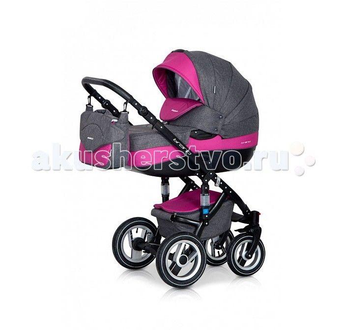 Коляска Riko Bruno 3 в 1  Коляска Riko Bruno 3 в 1, модель представлена в современном, стильном дизайне.  Коляска Brano обеспечит крохе самые лучшие условия для увлекательных прогулок и комфортного полноценного сна во время прогулок на свежем воздухе.  Малыш будет прекрасно себя чувствовать в просторной люльке, а комфортное прогулочное сиденье для подросшего ребенка предоставит наилучшие условия.   Эта модель коляски на алюминиевой раме обладает отличной проходимостью за счет легкого хода и…