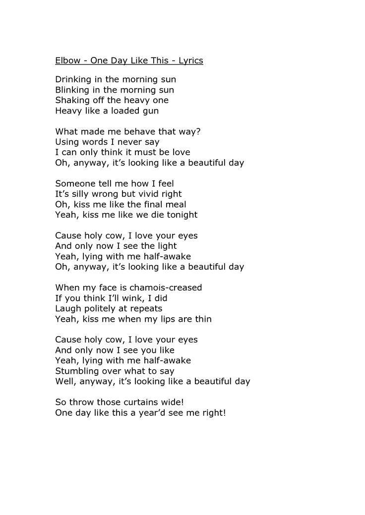 Lyric like this lyrics : 191 best elbow images on Pinterest | Guy garvey, Elbow band and ...