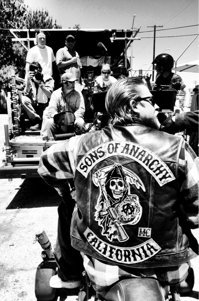 Sons of Anarchy, SAMCRO, SOA, bikers, brothers, family, great tv, photo b/w