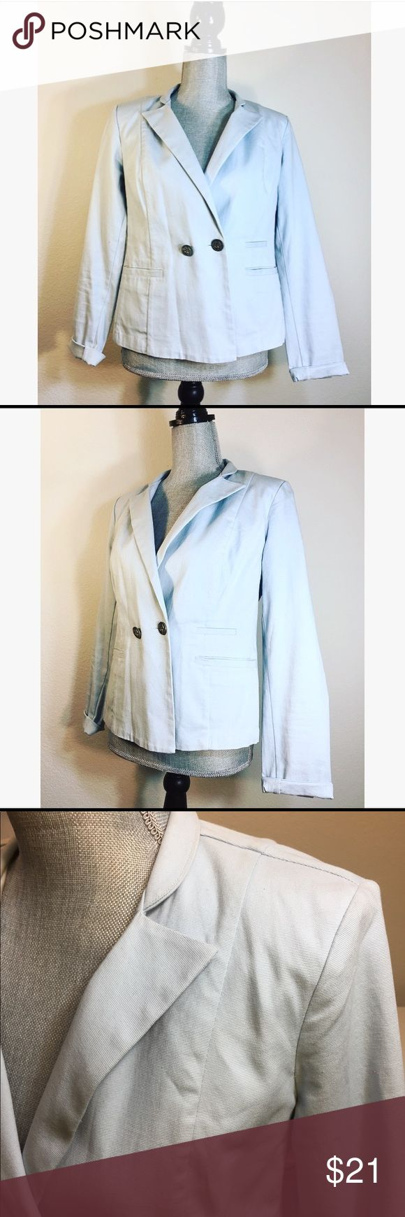 CAbi Very light blue Blazer Size 6 In excellent preowned condition  Size: Medium  Color:Black  Shoulders: 15  Bust: 18 CAbi Jackets & Coats Blazers