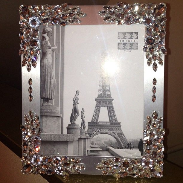 Personalized Wedding Picture Frames 8x10 : NEW CUSTOM CRYSTALLIZED PICTURE FRAME 8x10. Perfect for wedding photos ...