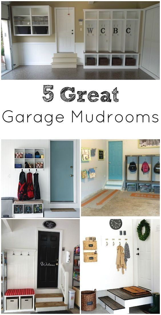 Garage mudrooms are a great option to