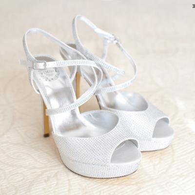 Stunning Pearl White Platform Heels With Silver Rhinestones | Rachel Harker  Photography | Villasiena.cc