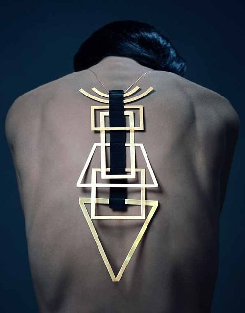 accesorized #geometric #contemporary #jewelry