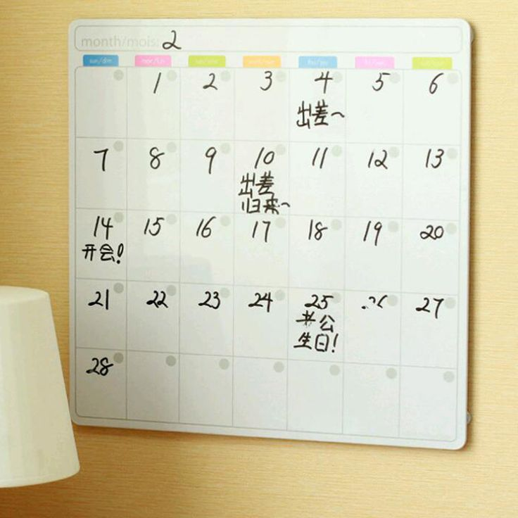 Mini Dry Erase Board Whiteboard Weekly Planner To Do List Writing Board Fridge Month Planner Refrigerator Magnetic Message Board