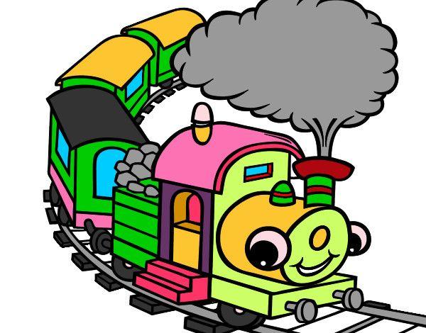 Dibujo de Tren pintado por Leandro06 en Dibujos.net el día 24-09 ...
