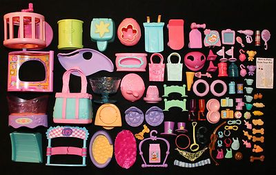 Littlest Pet Shop 96 Piece Lot of Assorted Accessories Only Food Toys LPS | eBay