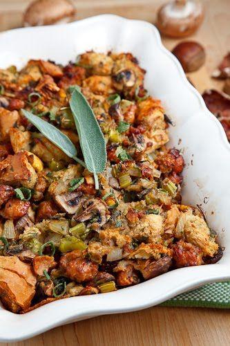 Italian sausage, mushroom and chestnut stuffing - Closet Cooking