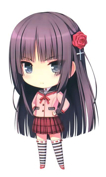 chibi fille en uniforme scolaire chibis pinterest
