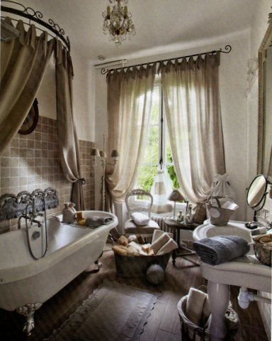17 best images about french country bath on pinterest for Salle de bain de reve