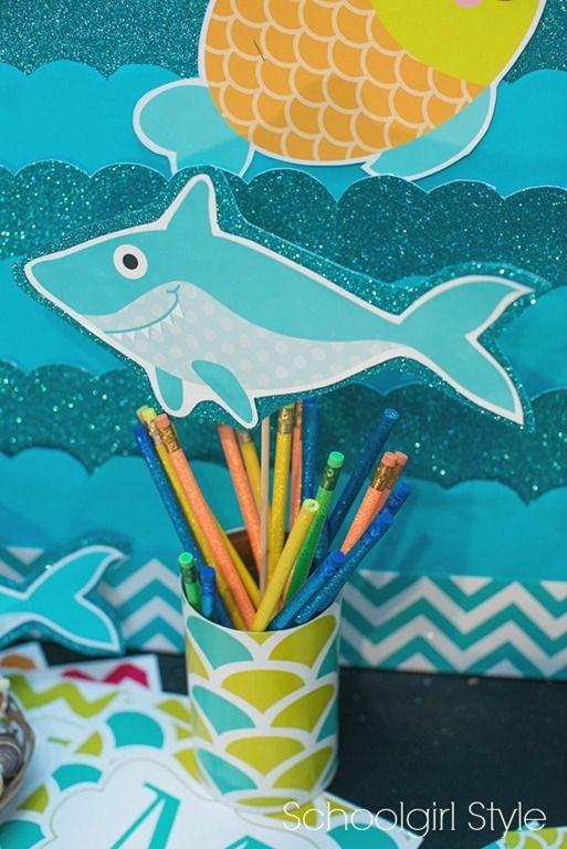 Ocean Beach Shark Classroom theme by Schoolgirl Style