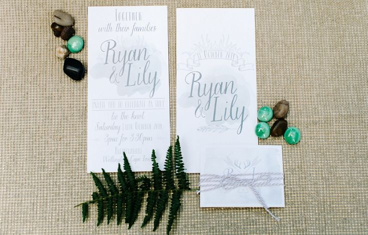 Watercolour stationary inspiration Grey and White Debbie Lourens Photography