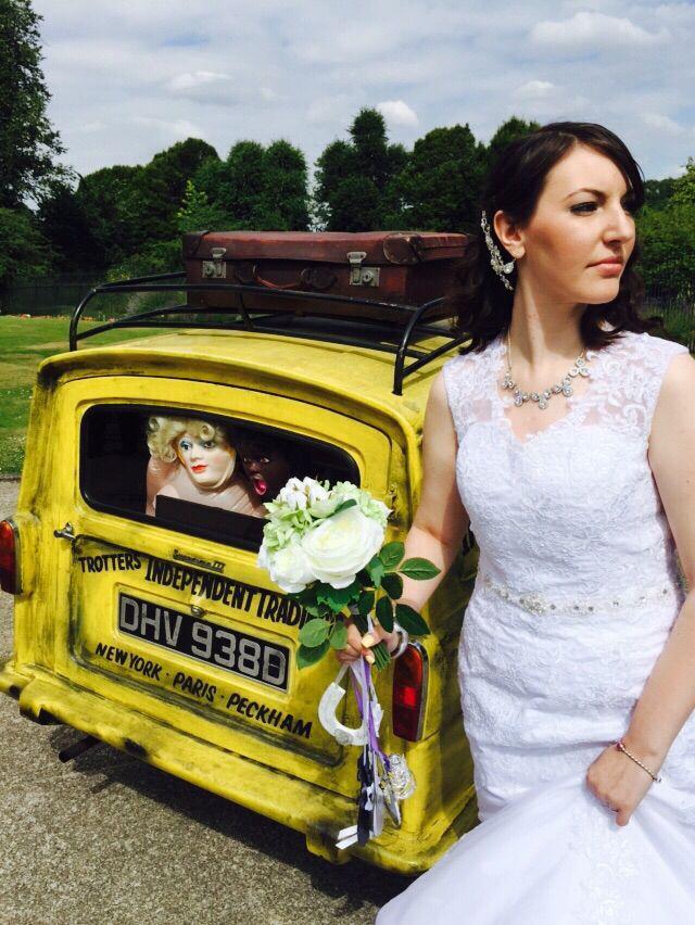Del Boy trotter van only fools and horses wedding car