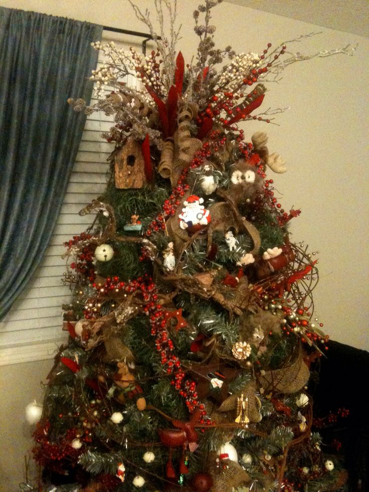 Missin quot the country this christmas so we ll be doing a rustic tree