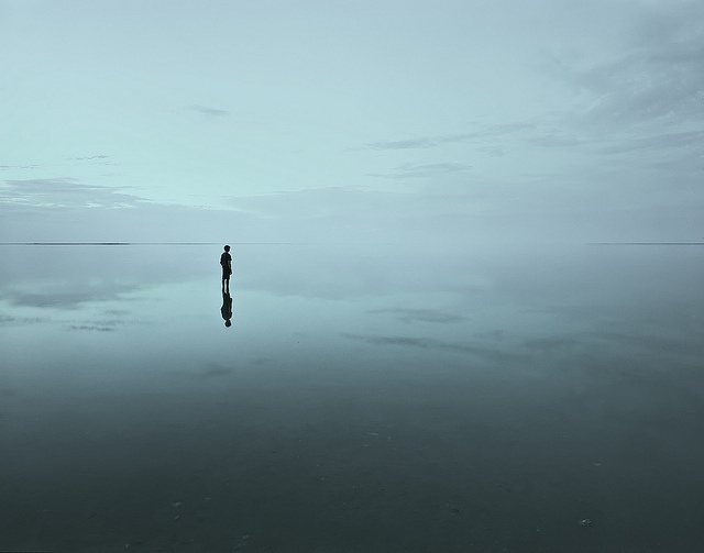 i wonder ...where the horizon disappears... by mike stacey.