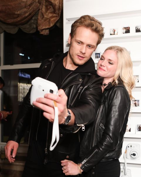 """NEW HQ Pic of Sam Heughan and MacKenzie Mauzy at """"ICONS"""" Celebration by Harper's BAZAAR   Outlander Online"""