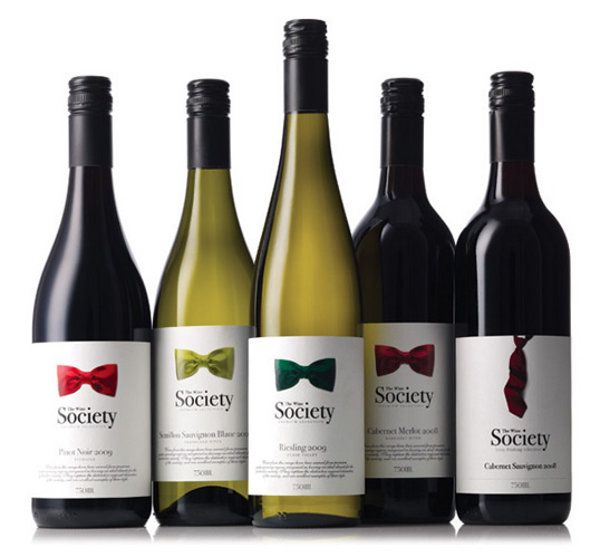 The #Wine Society by The Creative Method #vino #packaging