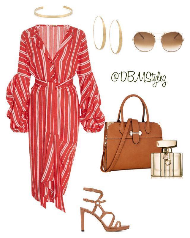 """""""The Lady in Red ❤️"""" by daisha-brianne on Polyvore featuring Johanna Ortiz, Jimmy Choo, Dasein, Lana, Jennifer Fisher, Gucci and Chloé"""