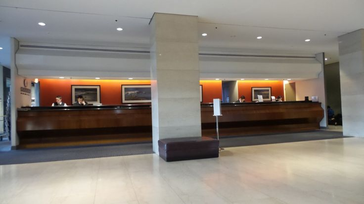 Front Desk at the Hilton Adelaide Hotel, South Australia