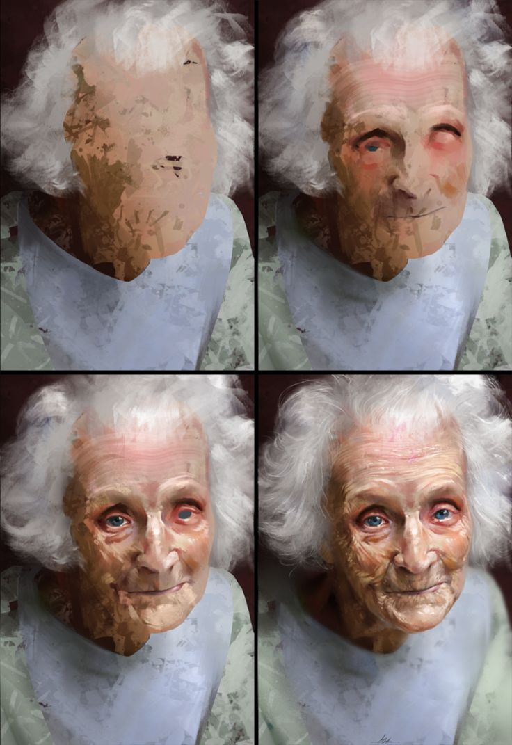 Study of an Elderly Woman Process by AaronGriffinArt on DeviantArt