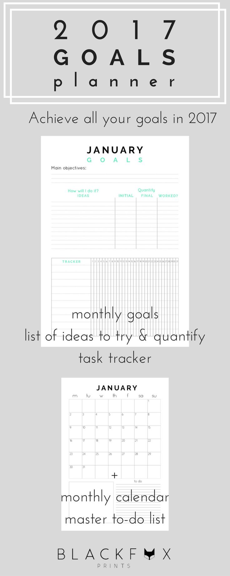 17 best ideas about goals planner notebook ideas 2017 goals planner monthly goal planner printable