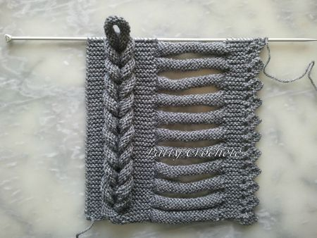 braiding knitting technique