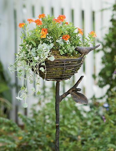 Bird nest planters!
