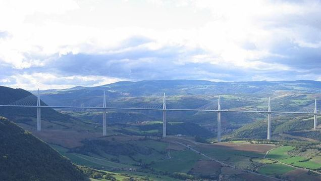 The Millau Viaduct  Why it's so scary: A civil engineer's dream, an acrophobe's nightmare. This minimalist creation has been carrying four lanes of the A75 autoroute through the air above the River Tarn valley since late 2004. There are longer bridges and higher bridges, but few (if any) combine the two to this degree.