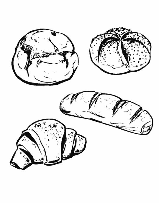 Pin by Waltraud Rieger on Boulangerie   Food illustrations ...