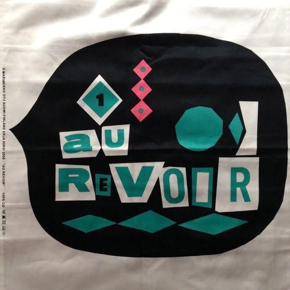 Marimekko Limited Edition Au Revoir thick satin pa…