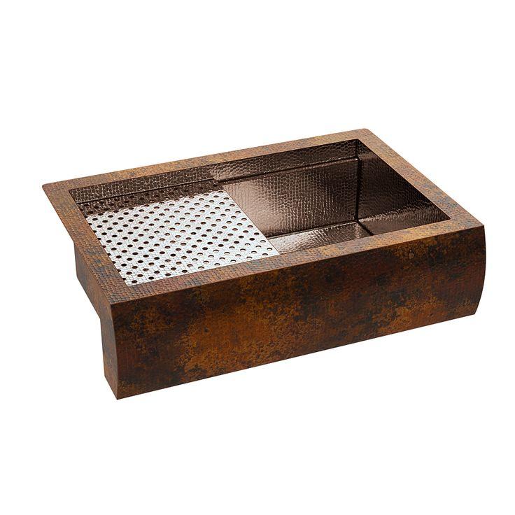 Artisan limited sw custom workstation sink copper